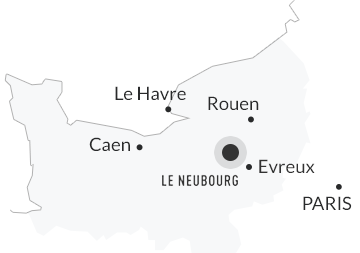 Carte de situation Le Neubourg