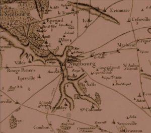 Vieille carte du Neubourg